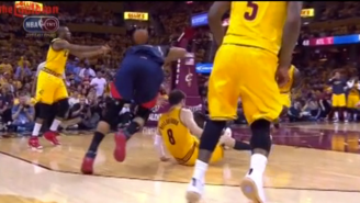 Al Horford Gets Ejected For This Elbow Drop On Matthew Dellavedova