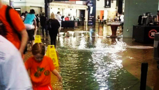 Check Out These Photos Of Minute Maid Park In Houston Flooding During An Astros Game