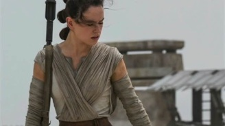 214 days until Star Wars: Daisy Ridley definitely knows how to use that bo staff