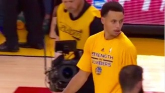 Rockets Captain Nick Johnson Explains Why Steph Curry's Pre-Game Double-Take Is A Non-Issue