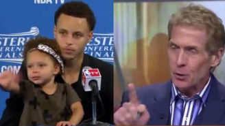 Happy Now Skip Bayless? Riley Curry Also Had A Bad Time At Steph's Press Conference