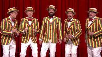 Here's Sting Helping  Jimmy Fallon Craft A Ragtime Version Of The Police Classic 'Roxanne'