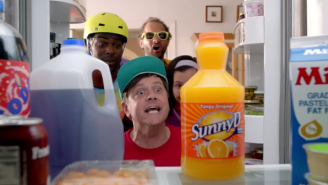 Sunny Delight Reenacted Their '90s 'Purple Stuff' Commercial With A Modern Day Twist