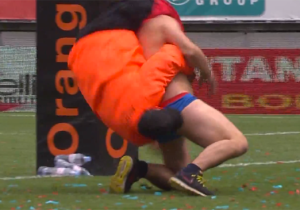 It Didn't End Well When This 'Superman' Streaker Interrupted A Rugby Match
