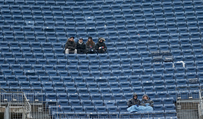 The Titans claimed they sold out this game. Seriously.