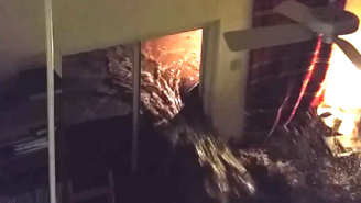 Watch The Frightening Moment Flood Waters Burst Into This Texas Home