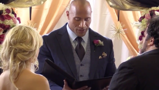 The Rock Officiated A Surprise Wedding For His 'Bestie' In The Best Prank Ever