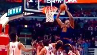 Tristan Thompson Vaults Over Mike Dunleavy For Insane Alley-Oop Finish