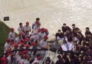These Baseball Teams Entertained With A Dance-Off And Rock, Paper, Scissors During A Rain Delay