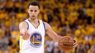 Steph Curry Ends A Bonkers First Quarter With A Totally Unfair 3-Pointer