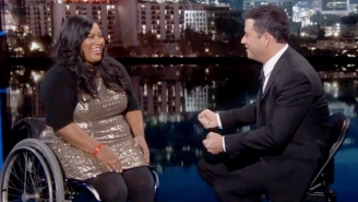 Jimmy Kimmel Spoke With The Woman In A Wheelchair Who Won A Treadmill On 'The Price Is Right'