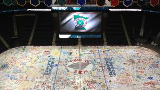 The Minnesota Wild Let Their Fans Paint The Ice