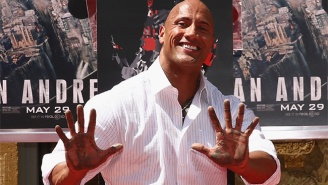 Dwayne 'The Rock' Johnson Laid A Cement Smackdown Outside The Historic TCL Chinese Theatre