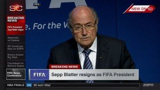 Here's Sepp Blatter Resigning As President Of FIFA