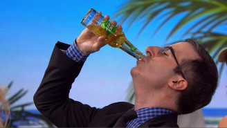 Watch John Oliver Make Good On His FIFA Bet And Chug A Bud Light Lime