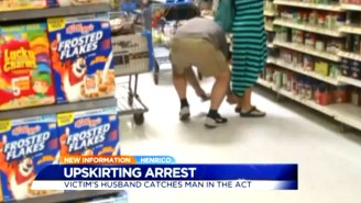 A Man Was Caught Red-Handed Allegedly Taking This Upskirt Photo At Walmart