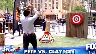 This 'Fox & Friends' Host Hit Someone With A Flying Axe, And It's As Ridiculous As It Sounds