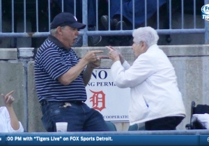 Let's Watch This Old Couple Invent A New, Adorable High Five Routine