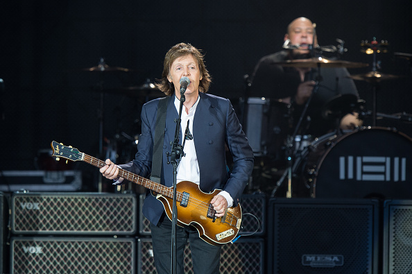 PARIS, FRANCE - JUNE 11:  Sir Paul McCartney performs at Stade de France on June 11, 2015 in Paris, France.  (Photo by David Wolff - Patrick/Redferns via Getty Images)