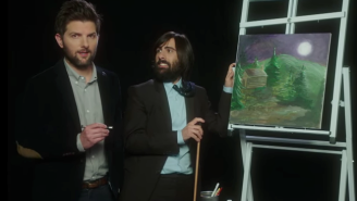 Adam Scott And Jason Schwartzman Critique Amateur Works Of Art In 'Overnight Painting'