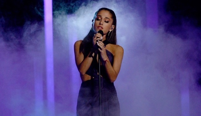 Ariana Grande Performs at 57th Annual Grammy Awards