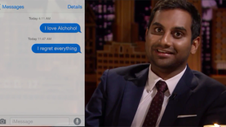 Watch Aziz Ansari Read Embarrassing Romantic Text Messages On 'The Tonight Show'