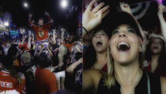 Check Out These Blackhawks Fans Going Crazy In The Streets To Celebrate The Stanley Cup