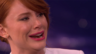 Watch Bryce Dallas Howard Cry On Command While Chatting About Home Depot With Conan