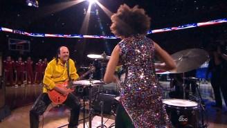 Carlos Santana Rocked The National Anthem Before Game 2