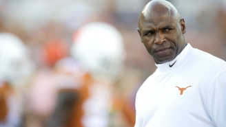 Texas Football Coach Charlie Strong Is Staging Tiger Fights In His Office Now