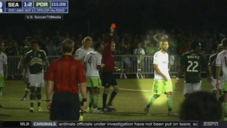 Please Enjoy Clint Dempsey Losing His Mind On A Ref, And Ripping Up His Notebook
