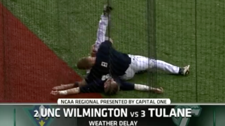 Watch A College Baseball Player Turn Into The Rock For A WWE-Style Rain Delay Match