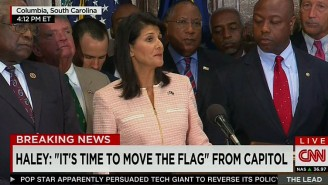 South Carolina Governor Nikki Haley Calls For The Removal Of The Confederate Flag From The Capitol