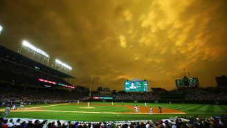 The Sky Over Wrigley Field Looked Like Another Planet On Monday Night