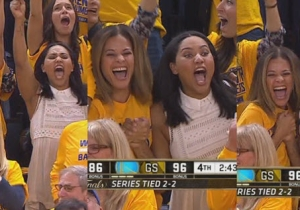 Watch Steph Curry's Family Celebrate His Step Back Three-Pointer Over Matthew Dellavedova