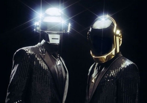 One Of The Daft Punk Guys Showed Up In A Movie Without His Helmet