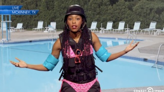 Jon Stewart And Jessica Williams Took On The Texas Pool Party Video On Last Night's 'Daily Show'