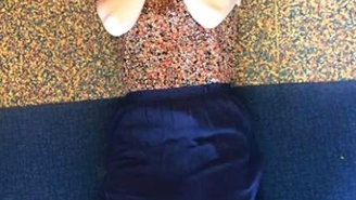 This Woman Wore The Same Dress As The Floor, And The Internet Went Wild
