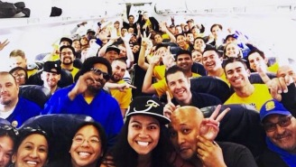 Golden State Flew All Of Its Staff Members To Cleveland For The NBA Finals