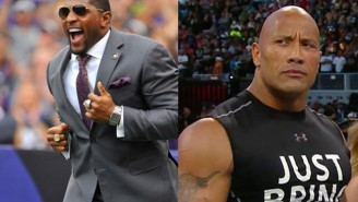 The Rock Revealed That He Almost Tagged With Ray Lewis At WrestleMania