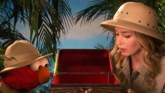 'Arizona' Emily Blunt And 'Idaho' Elmo Go Exploring On 'Sesame Street'