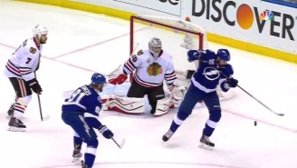 The First Goal Of The 2015 Stanley Cup Final Was An Amazing Deflection By Alex Killorn