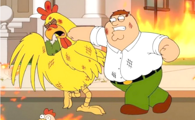 Ranking 5 'Family Guy' Man Vs. Chicken Battles