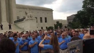 Listen To The Gay Men's Chorus Of Washington Sing The National Anthem By The Steps Of The Supreme Court