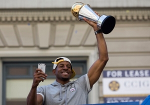 Andre Iguodala's Son Made Him The Larry O'Brien Trophy For Father's Day