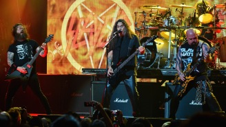 Slayer Guitarist Gary Holt Wore A 'Kill The Kardashians' Shirt In Concert