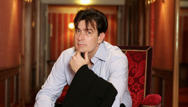 Cannes - Charlie Sheen - Portraits