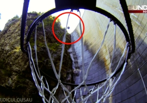 Watch This Guy Sink A Basketball Shot From Atop A 415-Foot Dam