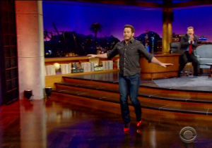 Watch Chris Pratt Attempt To Run In High Heels On 'The Late Late Show'