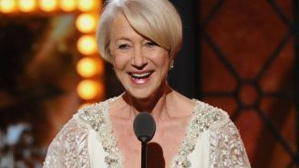 Here's Helen Mirren winning a Tony, because of course